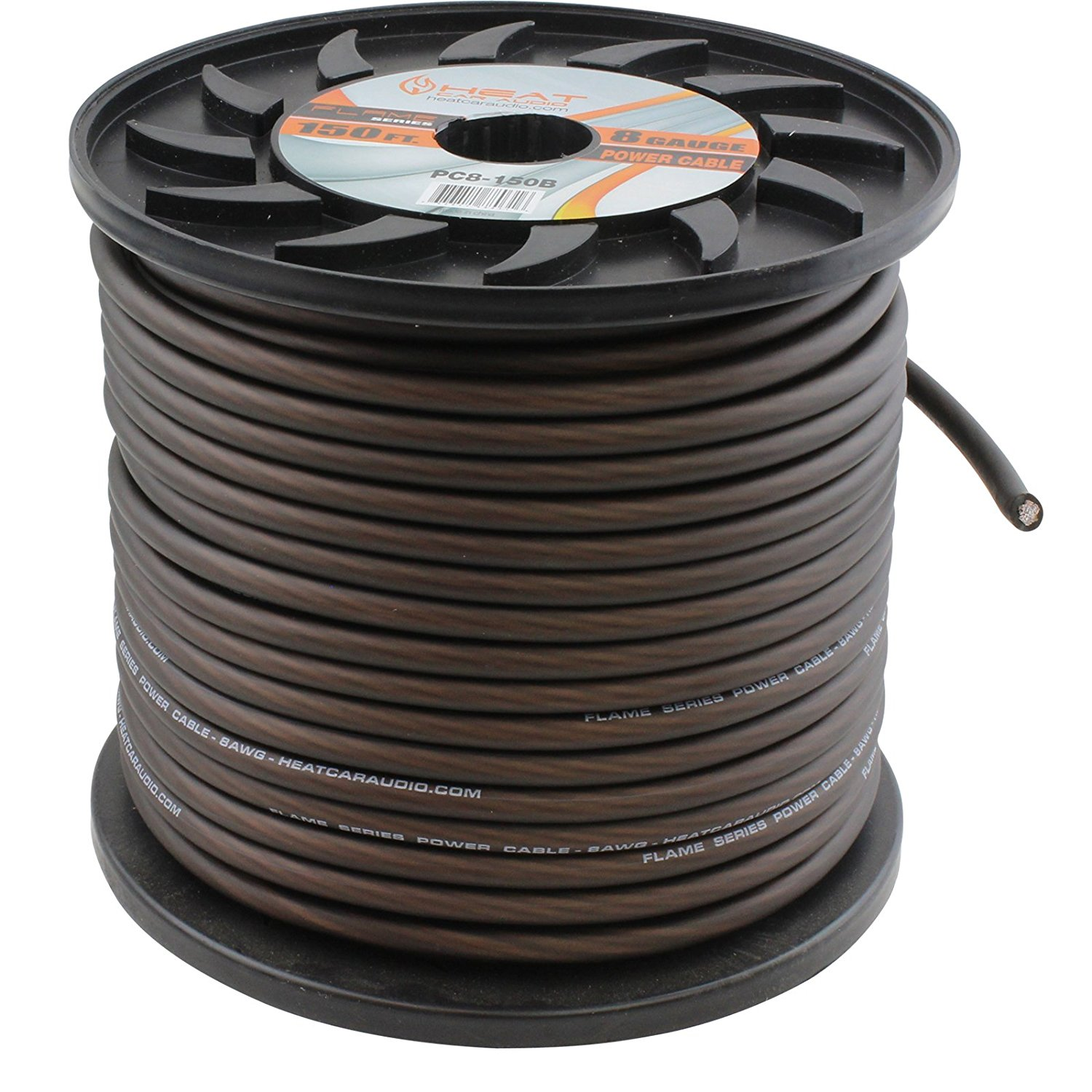 8 Gauge AWG 150 Ft Foot Car Amp Power Ground Wire Cable Black PC8-150B