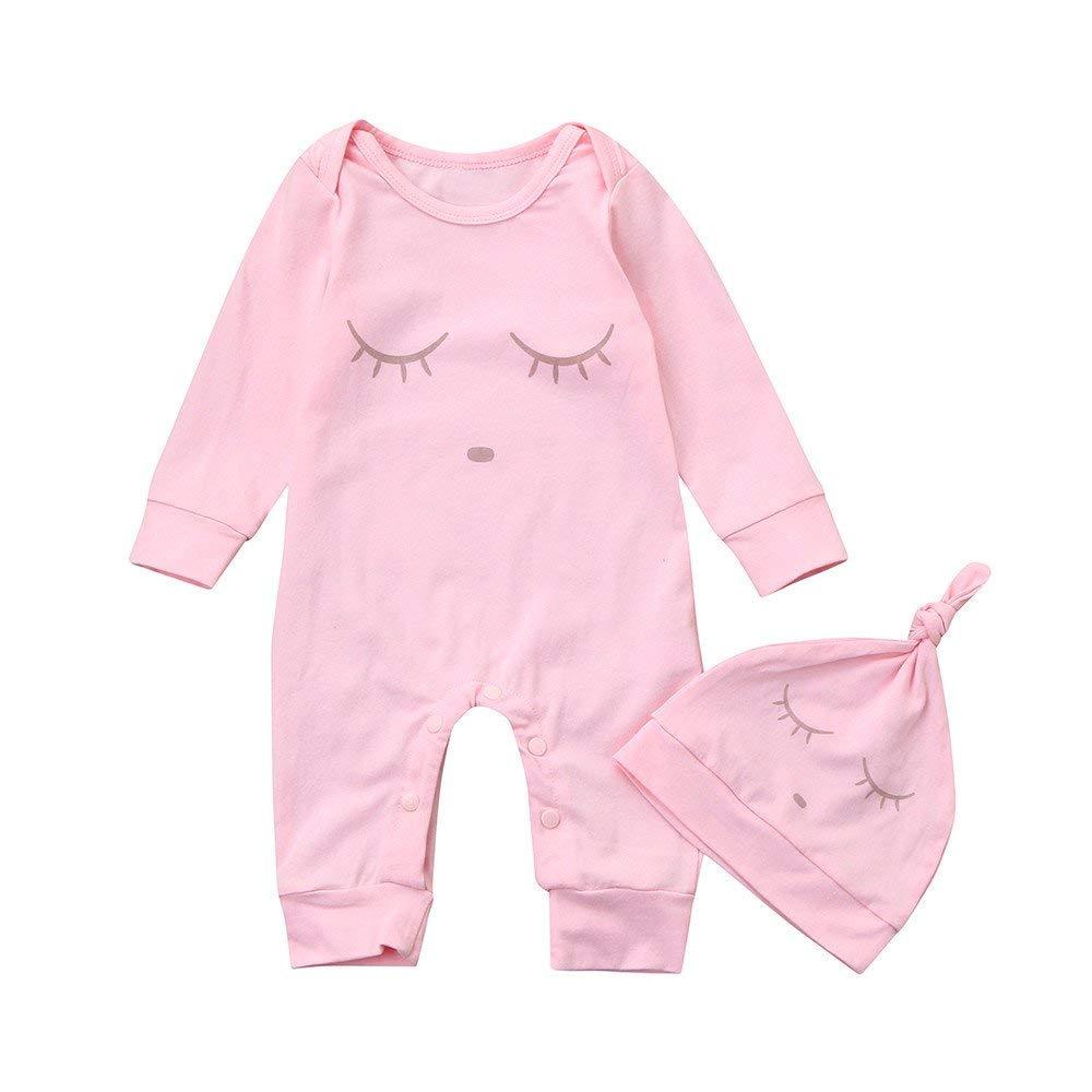 Jchen Newborn Infant Baby Boy Girls Summer Cartoon Print One Piece Rompers Jumpsuit Playsuit for 0-18 Months TM