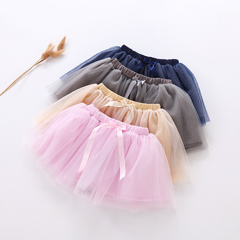 MS75105B Korean style kids girls with bowknot skirts
