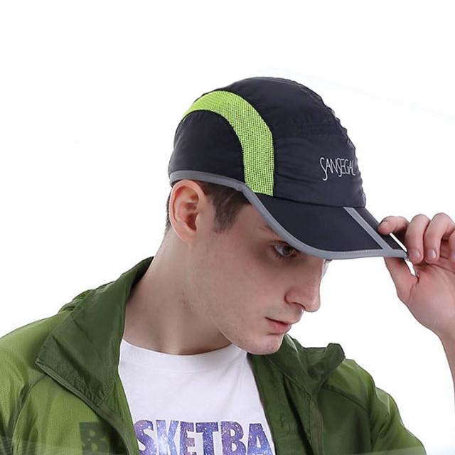 Led Flashing Foldable Sport Cap Reflective Running Hat