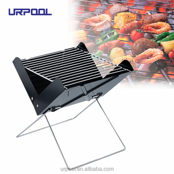 f10b7819645 Portable Outdoor camping X Style BBQ Grill Charcoal Barbecue Kebab Grills  Notebook Japanese Charcoal BBQ Grills