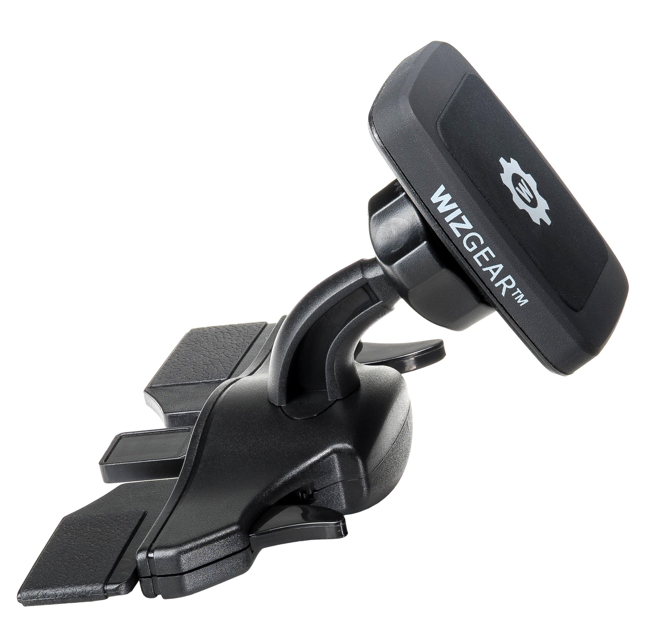 WizGear Universal CD Slot Magnetic Car Mount Holder Cell Phones Mini Tablets Fast Swift-Snap Technology, Fits Most Car Cd Slots