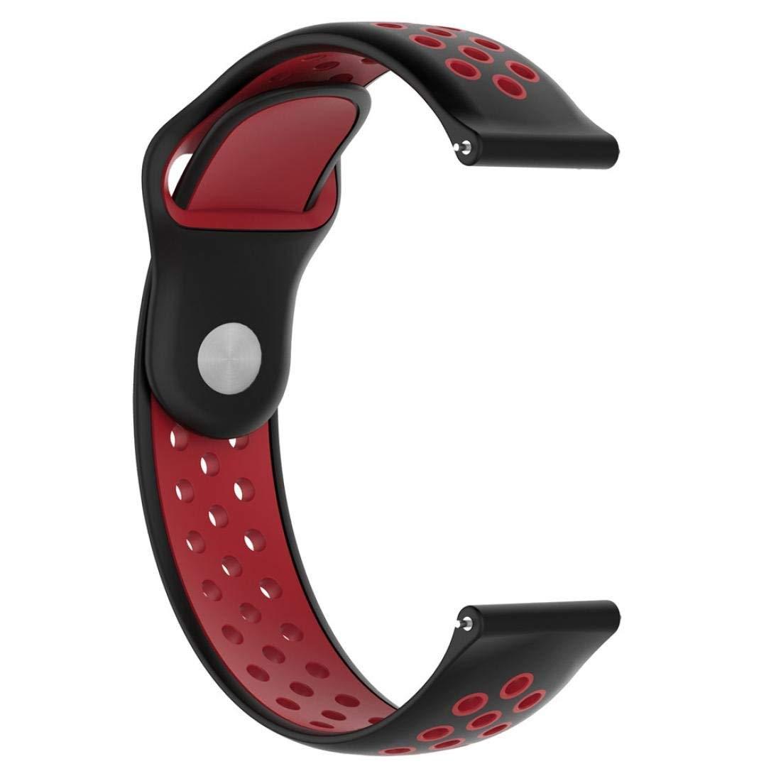 Outsta for Samsung Gear S3 Frontier Watch Band, Replacement Soft Silicagel WatchBand Wrist Strap Accessories Smart Watch Bracelet Band Women Men (D)