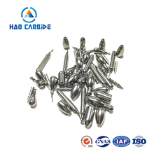 Hot sale unpainted tungsten fishing moulds for plastic worm sinker