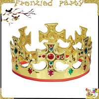 New arrival party plastic cheap king crown FGHD-0080