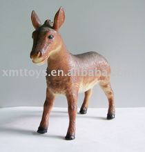 resin funny donkey animal figurine for outdoor decor