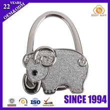 Hot Selling Rhinestone Elephant Bag Hanger Metal Foldable Purse Hanger