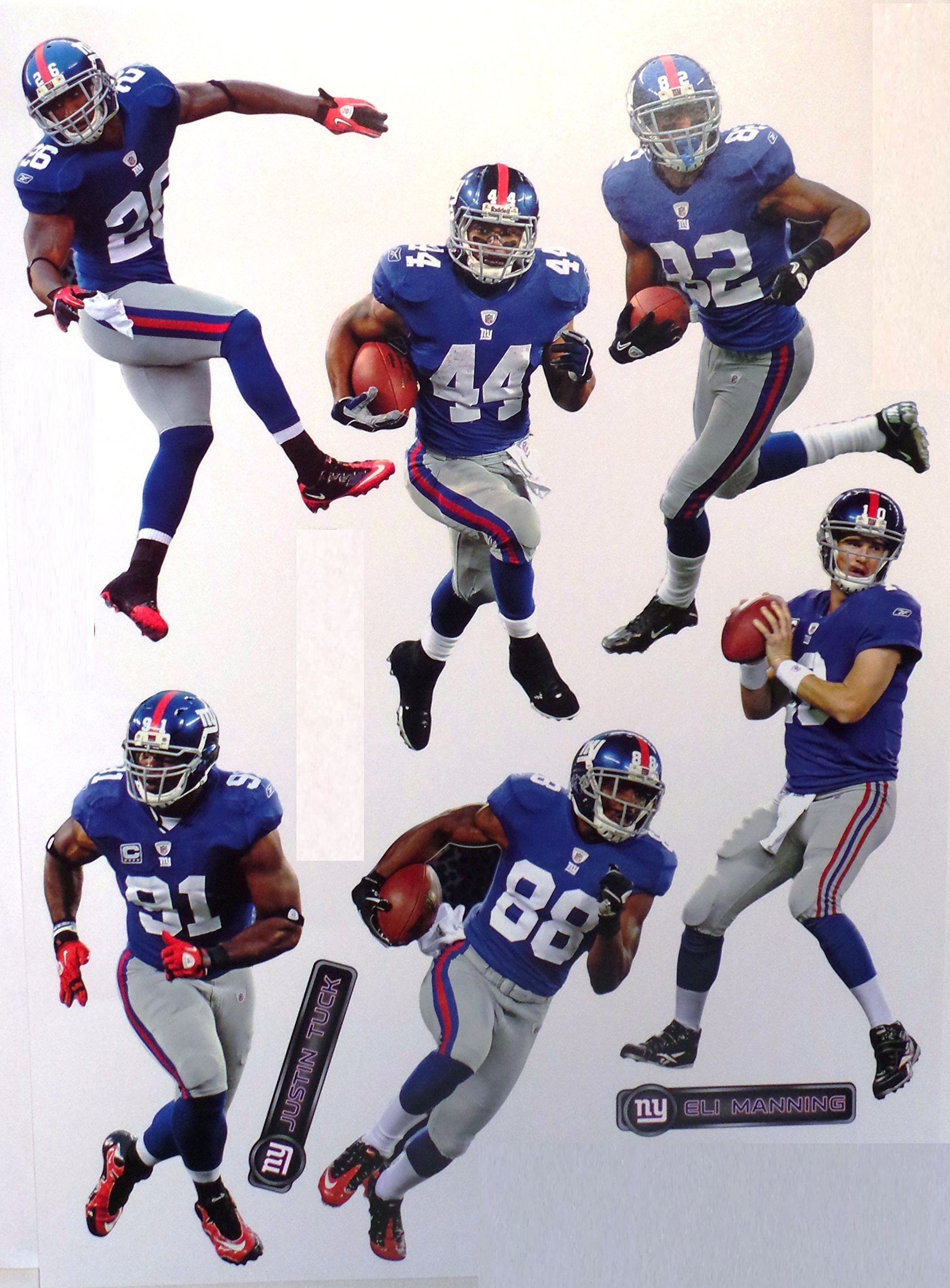 "New York Giants FATHEAD Set of 4 Team Logo Official NFL Vinyl Wall Graphics 16"" INCH SHEET"