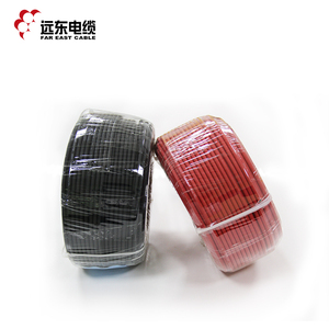 Far East PVC insulated copper wire electric wire pv solar cable 6mm 4mm