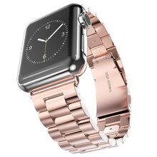 Ремешок из нержавеющей стали с металлической пряжкой для Apple Watch, 44 мм, 40 мм, сменный Браслет iwatch series 5, 4, 3, спортивный 38 мм, 42 мм(Китай)