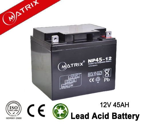 Maintenance free valve regulated ABS case lead acid battery