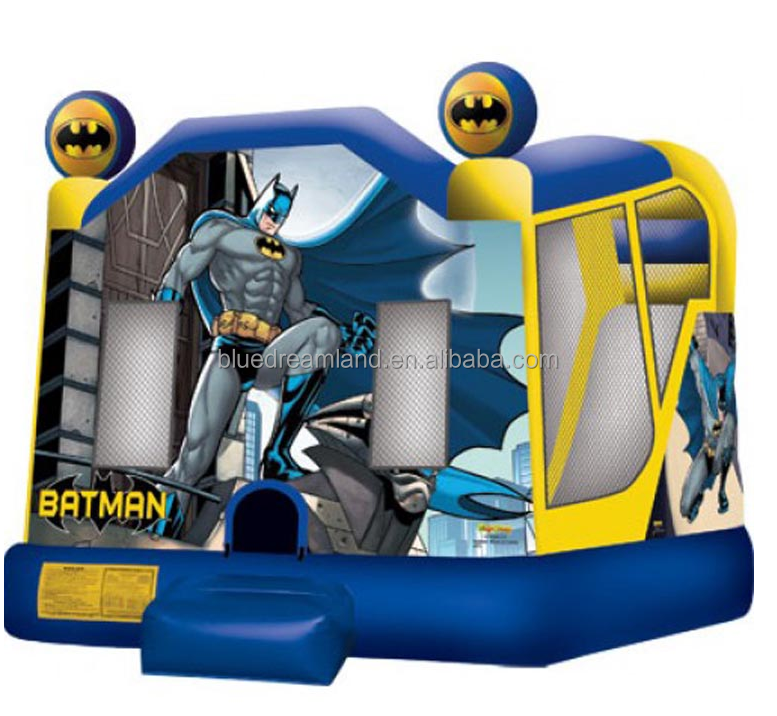 Various types bat man superman inflatable combo toys jumping castle bouncy slides