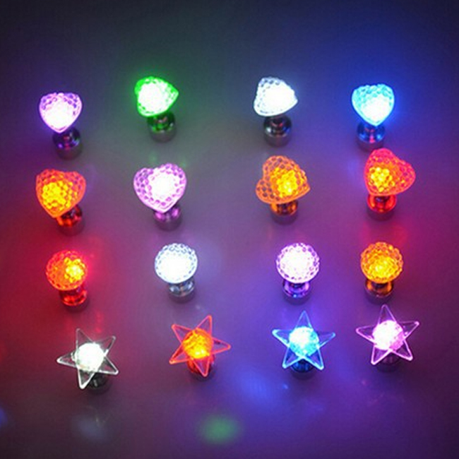 9322f1181 New Products Star Heart Shaped Led Flashing Christmas Earrings - Buy ...