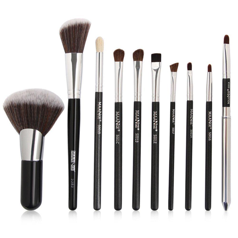 Makeup Brush Set Premium Synthetic Kabuki Foundation Powder Brush,Posional | Concealer Professional Makeup Brush Set |Synthetic Cosmetic Make Up Brushes | Foundation Brushes |Face Makeup Brushes,10pcs