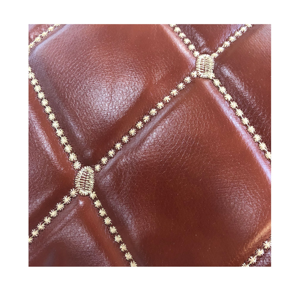 Wenzhou hot sell embroidery <strong>leather</strong> with foam custom design heavy luxury for sofa and car decoration car seat covers <strong>leather</strong>