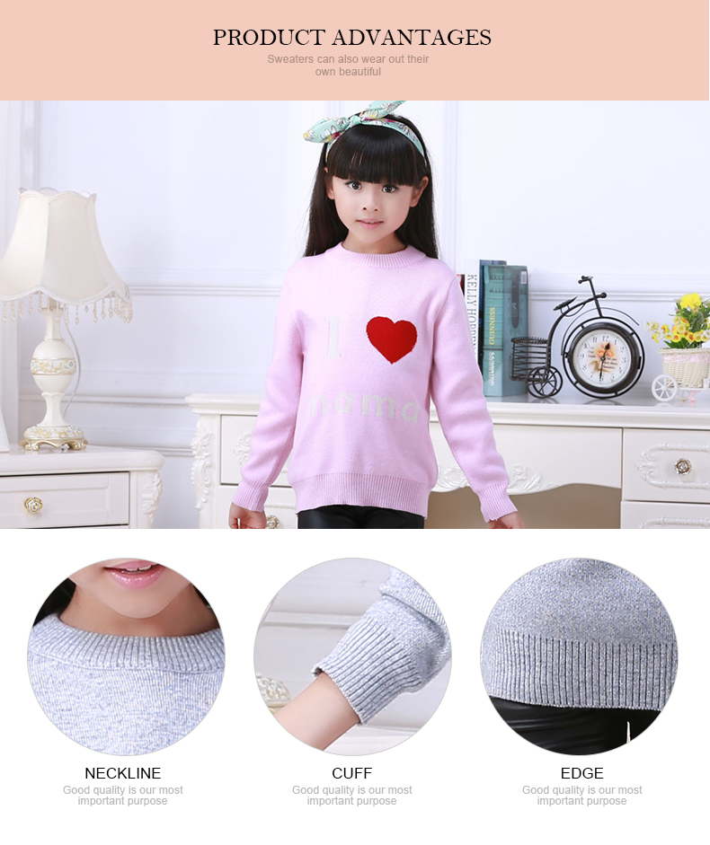 new design spring autumn custom fashion kid knitting trousers