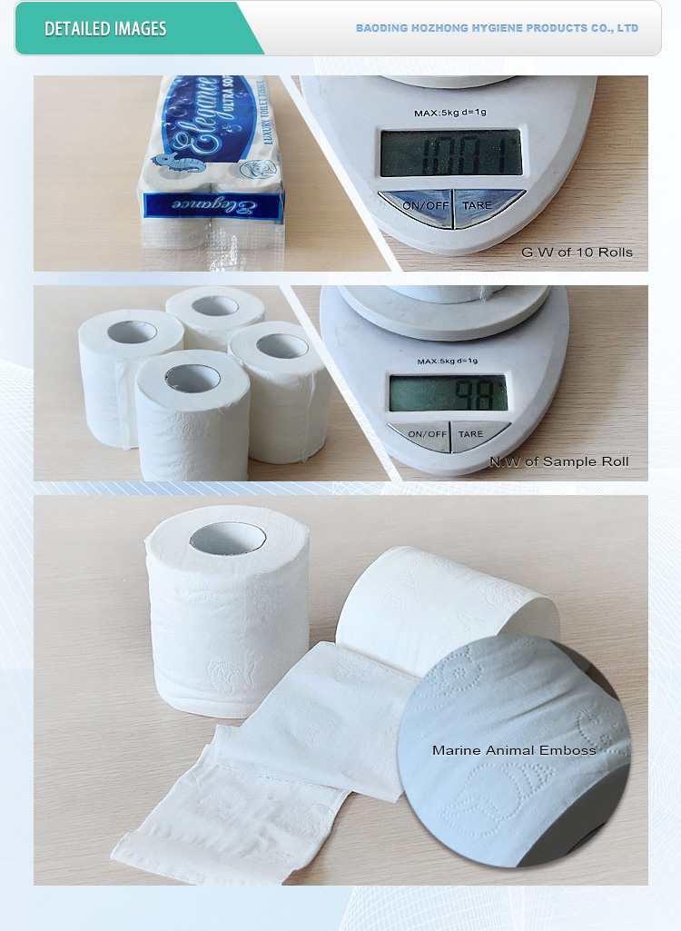 Hebei Tissue direct factory wholesale virgin sanitary toilet paper