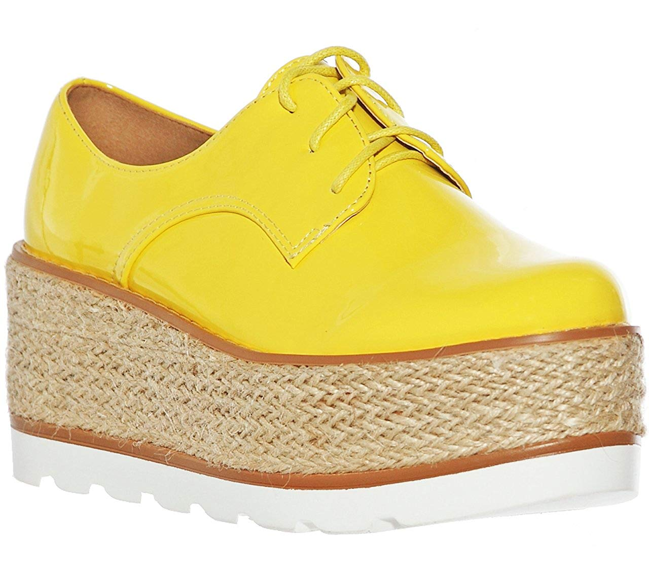 97ea7021839 Get Quotations · Women s Oxford Platform Lace up Creeper Shoes