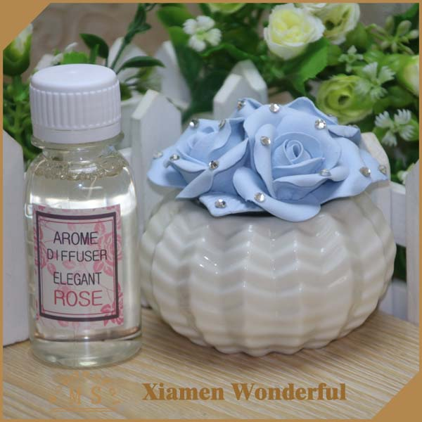 handmade artifical clay aroma flower diffuser with ceramic vase