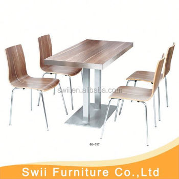 Delightful Fast Food Table Chair Set Commercial Cafe Furniture Used Table And Chair  For Restaurant