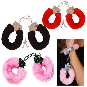 Soft Fur Sex Toy Handcuffs Fluffy Party Sexy Adult Role Play Night Sexy Toys CA217