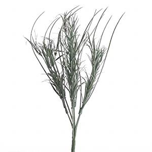 Factory Direct Craft® Trio of Whispy Artificial Green Flocked Grass Picks for Centerpieces and Arrangements