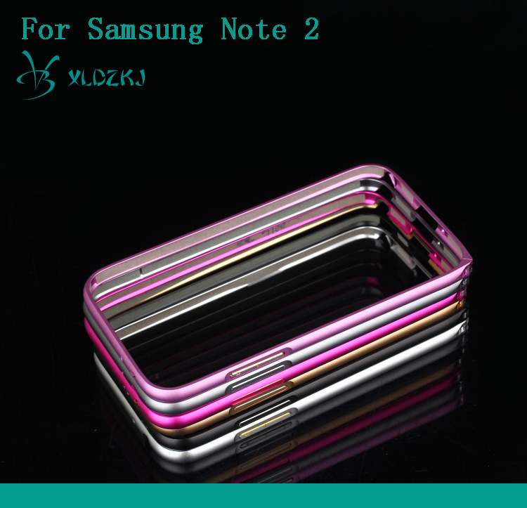 Metal Frame Ultrathin Aluminum Bumper Case For Samsung Galaxy Note 2