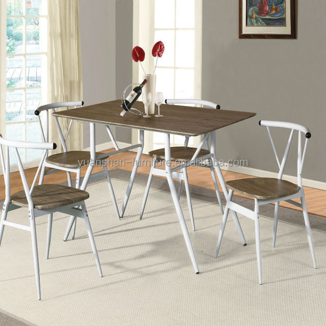 CH4001one table four chairs MDF top new style dining table chair set
