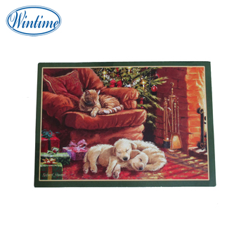 best wishes Christmas gifts promotion paper greeting card