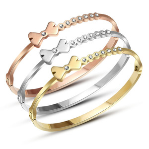 Popular Bow-Knot Friendship Bracelet For Women Accessories Stainless Steel Jewelry Bracelets Bijoux New Product Ideas 2018