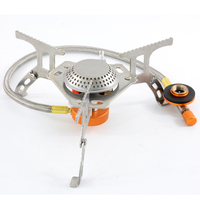 Outdoor mini portable camping gas stove folding gas cooker with piezo ignition