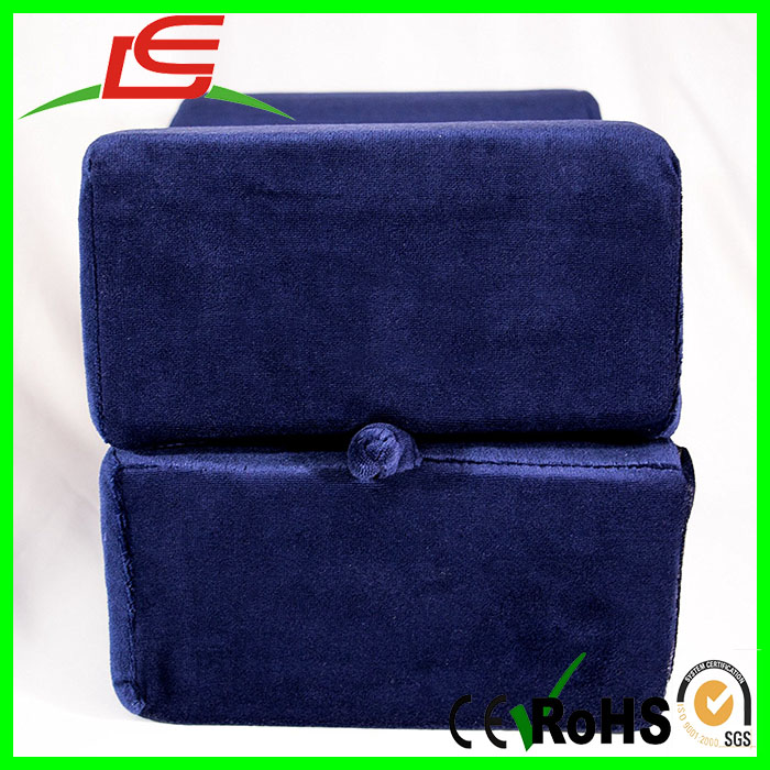 Blue Smooth Velour Cover Dual Foam Knee Pillow Leg Rest