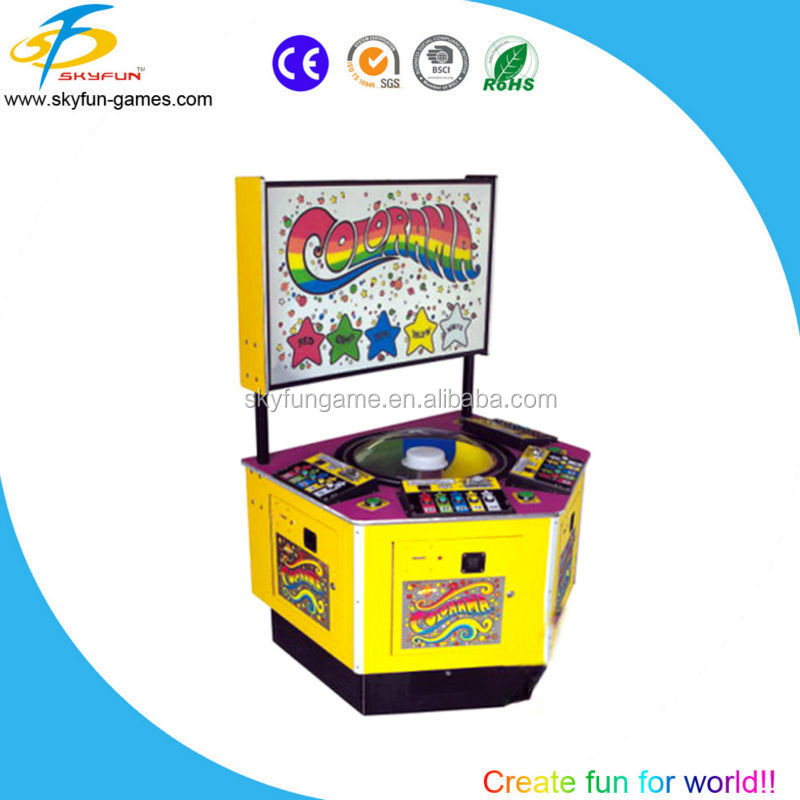 Attractive Colorama coin operated lottery machine/Arcade lottery game machine for sale