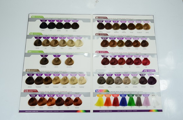 61 colors mixed hair color chart international hair color swatch book for hair coloring selection - Hair Color Book