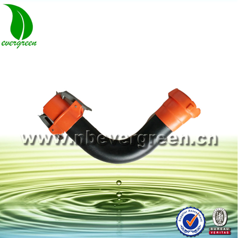 Evergreen sprinkler Irrigation System HDPE pipe latched elbow fitting
