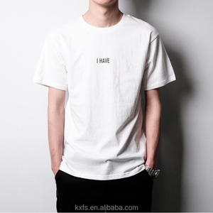 Custom design high quality logo printing men cotton t shirt
