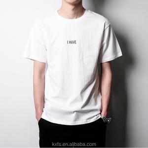 Custom design high quality logo printing men cotton t shirt