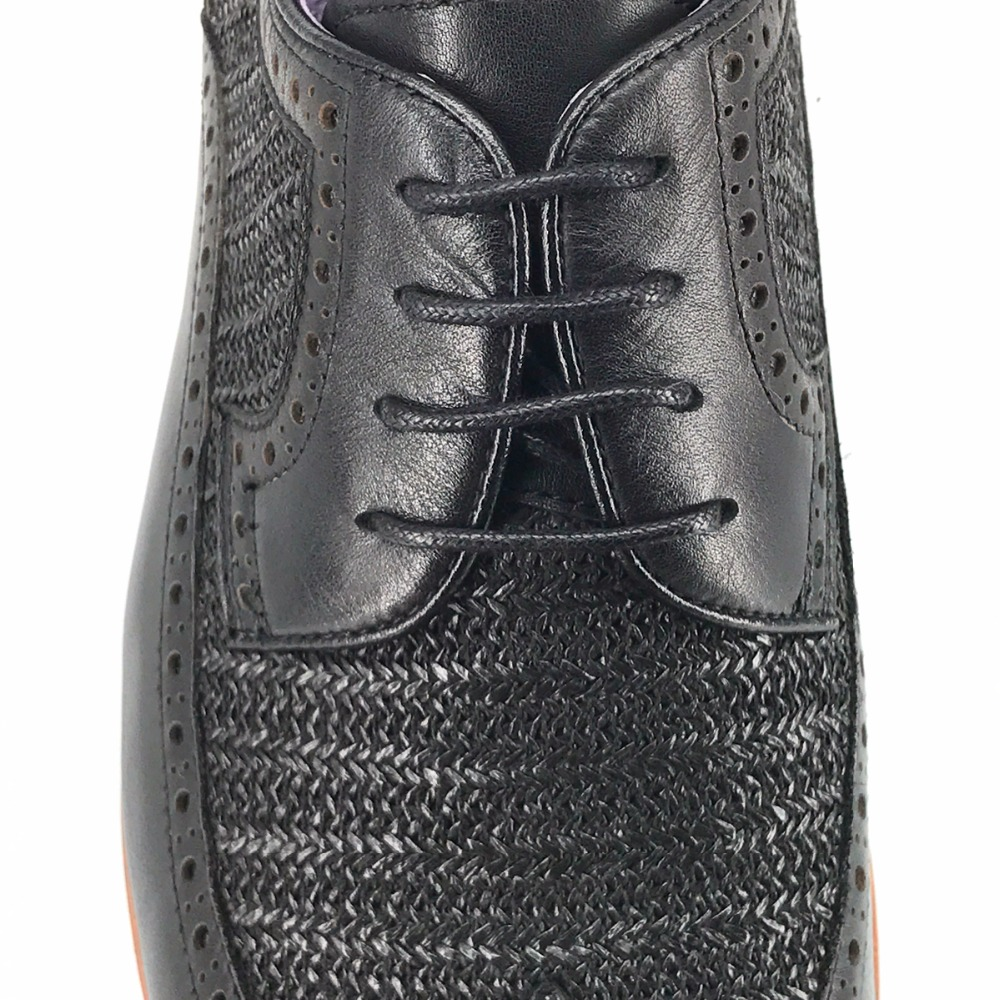 woven New shoes dress italy amp; design men brogue leather shoes 2018 CtdUwqd