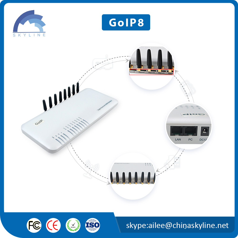 Best Performance 8 Ports SIP VoIP Gateway for phone voip system