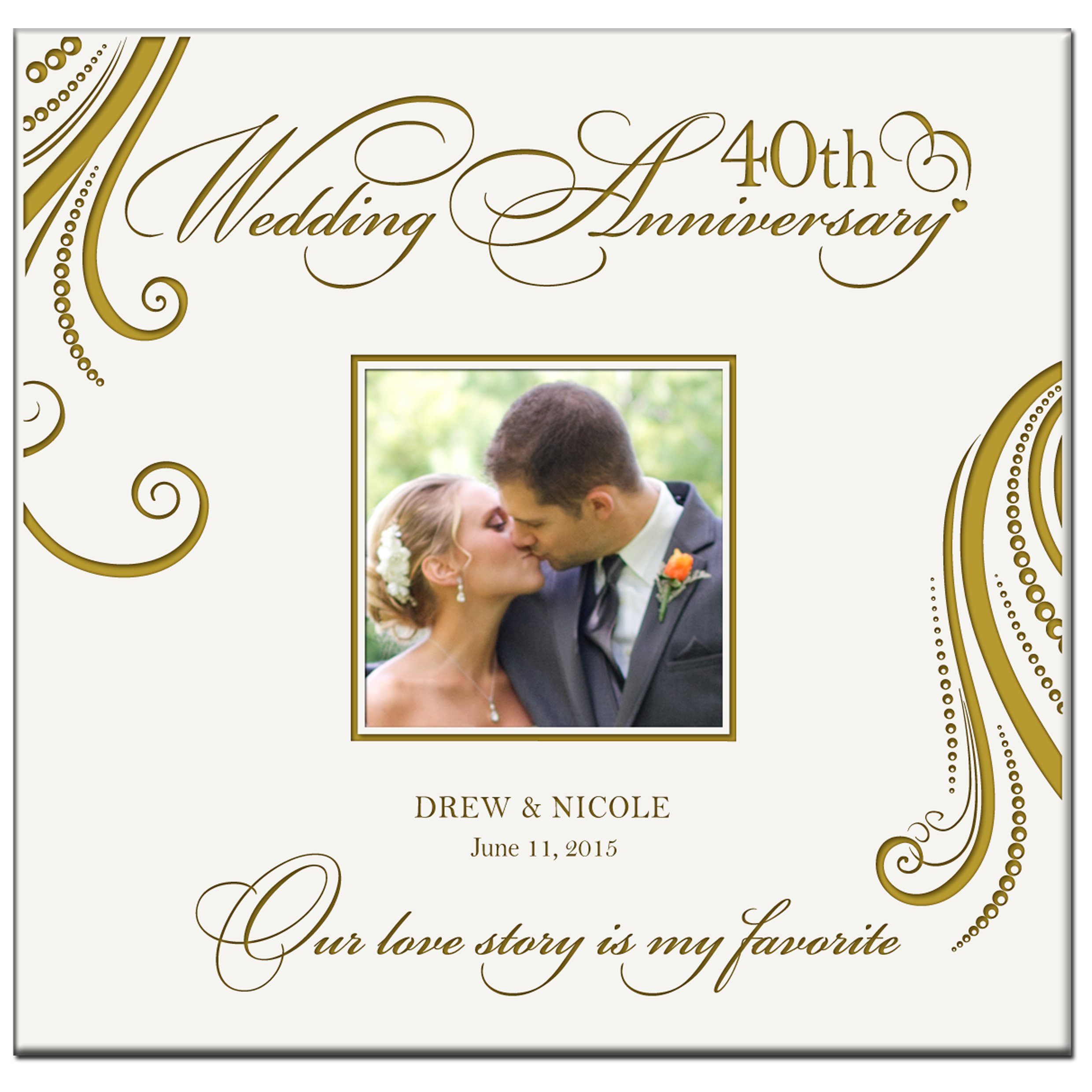 Get Quotations Personalized Mr Mrs 40th Wedding Anniversary Gifts Photo Al Holds 200 4x6 Photos Gift