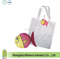 New style high quality polyester fish shaped tote bag / long handle bag