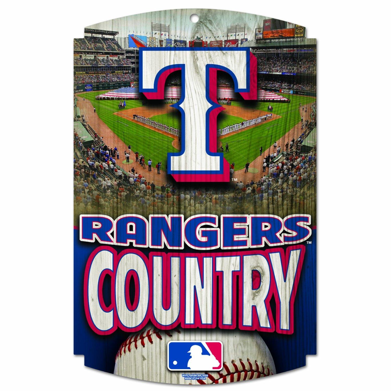MLB Texas Rangers Wood Signs