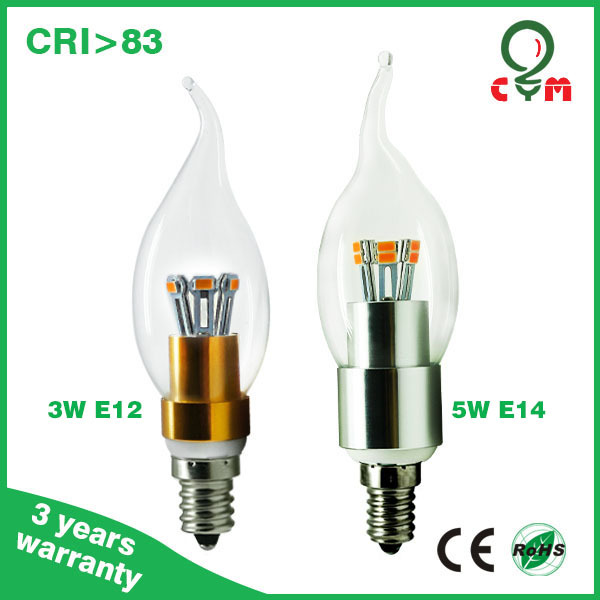 E14 Led Flicker Flame Candle Light Bulbs Bent-tip 5w