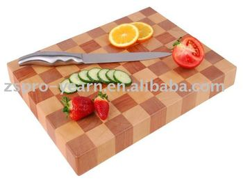 Wooden Cutting Board with End Grain for Vegetable and Fruit