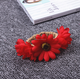Boho style garland red sunflower cord wristband bracelet children artifical flower garland wristband bracelet for decorations