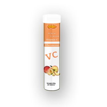 Lifeworth peach vitamin c 500mg effervescent tablets