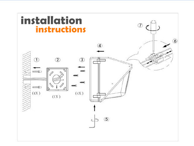 Cul Hot Fashionable Installation Outdoor Wall Mounted Light & Luxury Wal Pak Outdoor Lighting Wiring Diagram on