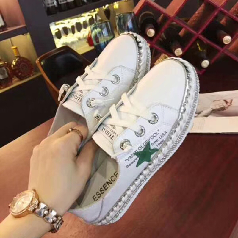 casual of 2018 studded breathable summer pointed the five student shoes star Korean new version lazy wqCtFqO