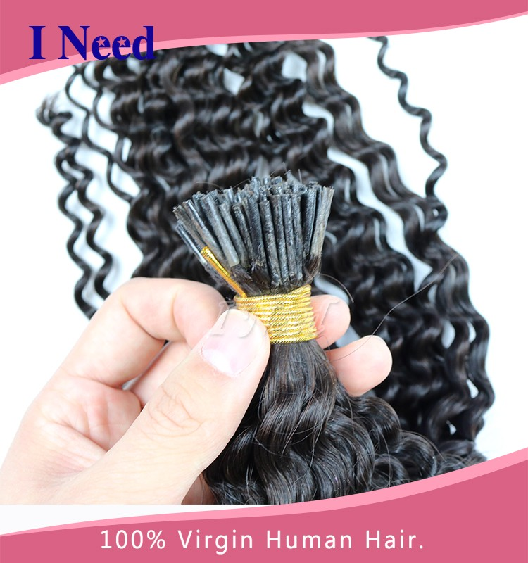 100 Human Hair Factory Price Russian Remy Hair Grey Stick Tip Itip