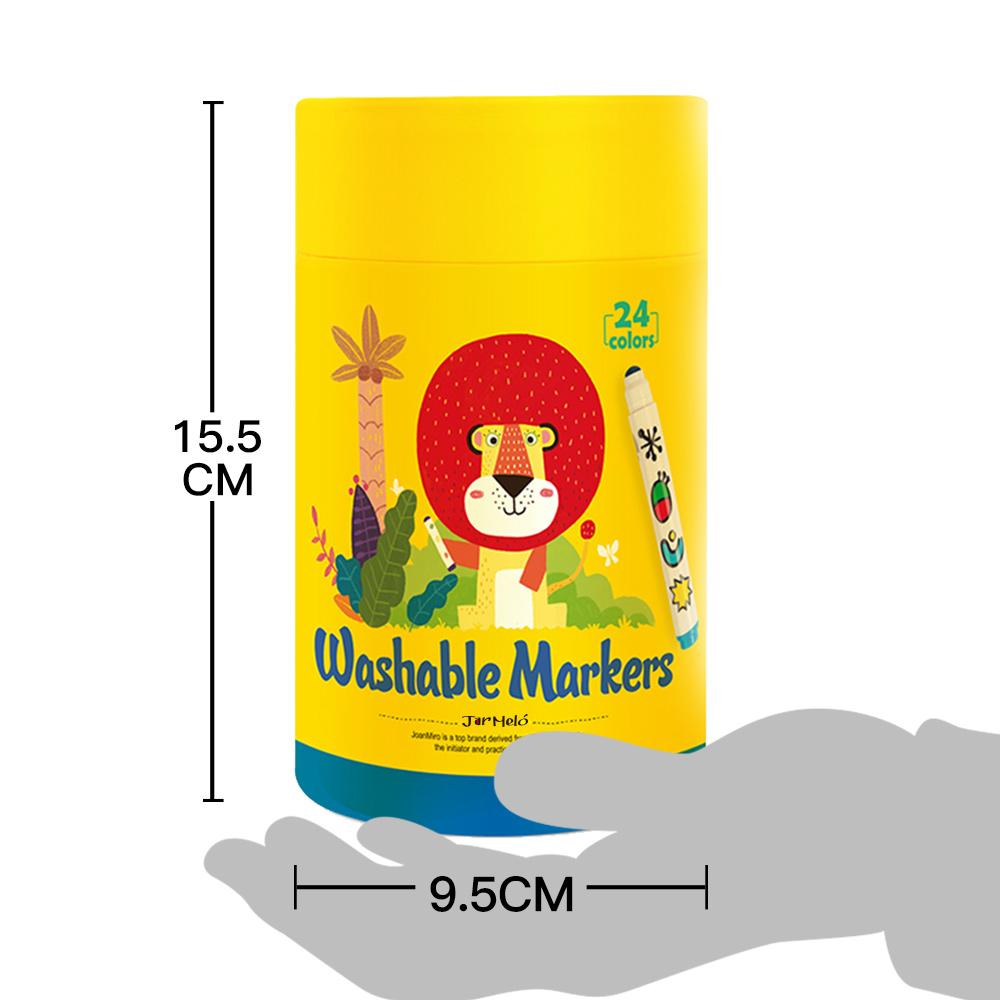 24 pack धो सकते हैं मार्करों थोक सेट बच्चों को 'रंग कलम ड्राइंग मार्करों प्रकाश डाला मार्करों